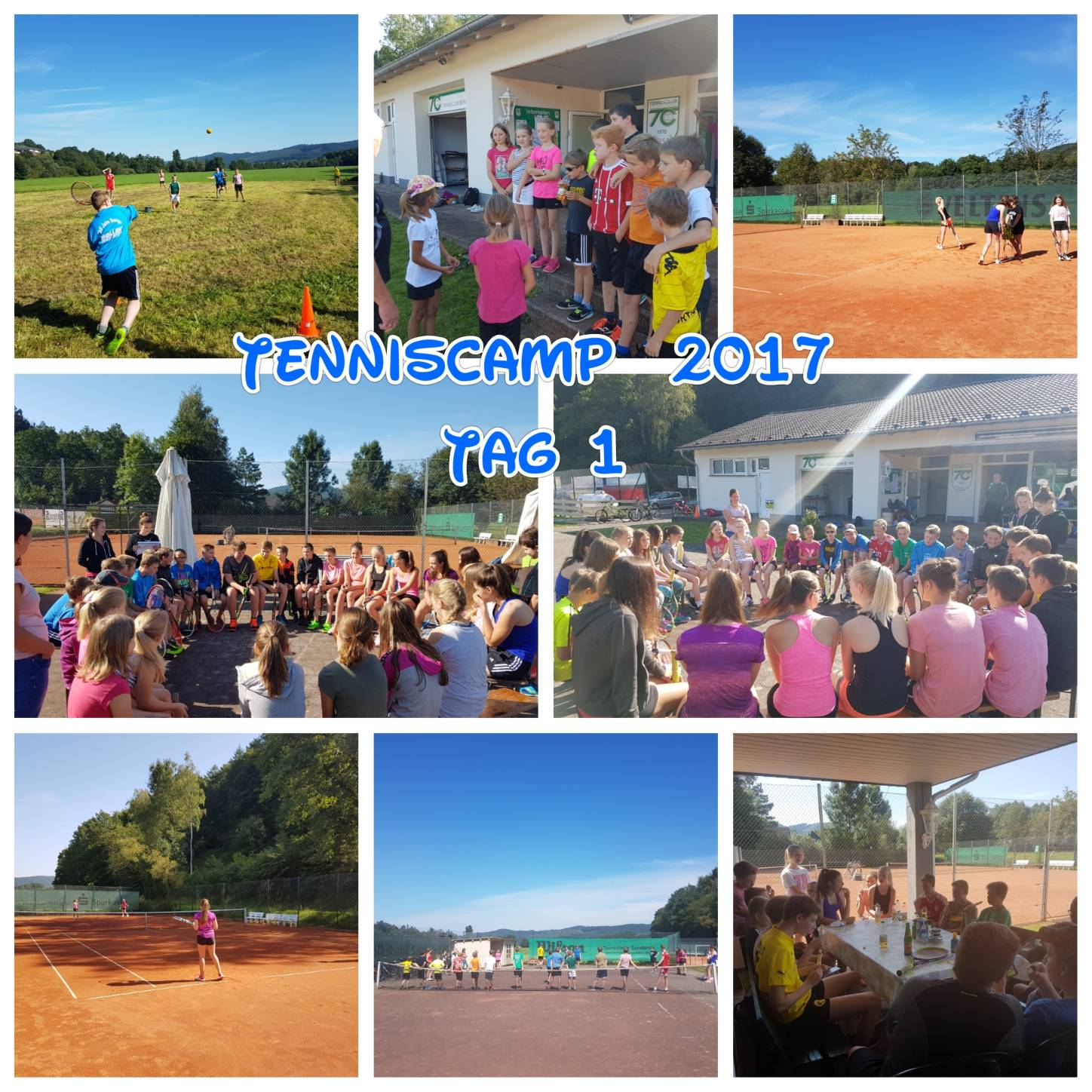 Tenniscamp 2017 - Tag1